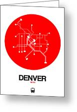 Denver Red Subway Map Greeting Card