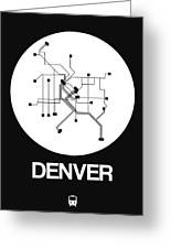Denver White Subway Map Greeting Card