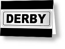 Derby City Nameplate Greeting Card