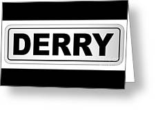 Derry City Nameplate Greeting Card
