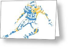 Derwin James Los Angeles Chargers Pixel Art 3 Mixed Media by Joe ... d6cf63da9