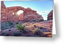 Desert Sunset Arches National Park Greeting Card