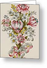 Design For Sprays Of Flowers Greeting Card