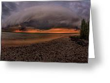 Detroit Point Storm Moving In Greeting Card