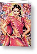 Devika Dance Greeting Card