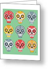 Dia De Muertos Skulls Greeting Card