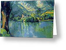 Lake Annecy - Digital Remastered Edition Greeting Card