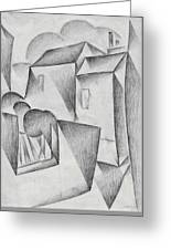Digital Remastered Edition - Houses In Paris, Place Ravignan - Original White Greeting Card