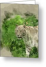 Digital Watercolor Painting Of Beautiful Portrait Image Of Hybri Greeting Card