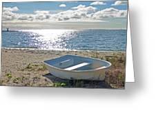 Dinghy On A Sunny Beach Greeting Card