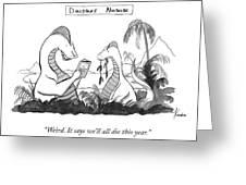 Dinosaur's Almanac Greeting Card