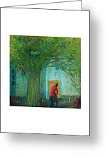 Discovery An Abstract Painting By Laura Hunt Greeting Card