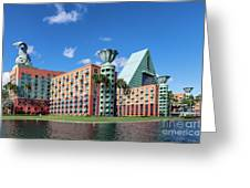 Disney Dolphin Hotel Greeting Card