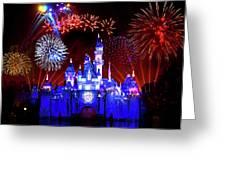 Disneyland 60th Anniversary Fireworks Greeting Card