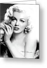 Diva Mm Bw Greeting Card