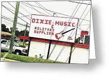 Dixie Music Greeting Card