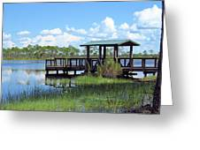 Dock On The River Greeting Card
