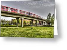 Docklands Light Railway Train  Greeting Card