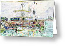 Docks At Saint Malo - Digital Remastered Edition Greeting Card