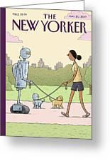 Dog Walking 2.0 Greeting Card
