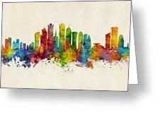 Doha Qatar Skyline Greeting Card
