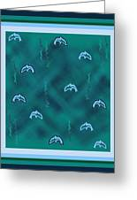 Dolphins Design Greeting Card