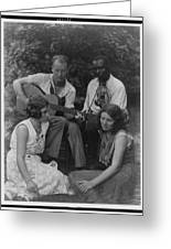Doris Ulmann   1882-1934  Four Musicians Including A Man Playing A Guitar, A Man Playing A Violin Greeting Card