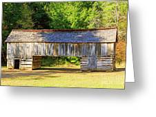 Double Crib Barn In Cades Cove In Smoky Mountains National Park Greeting Card