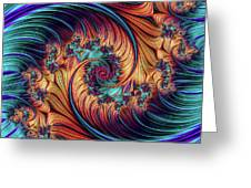 Double Fractal Spiral Greeting Card