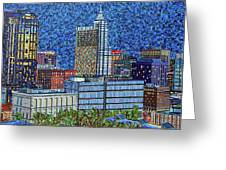 Downtown Raleigh - City At Night Greeting Card