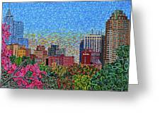 Downtown Raleigh - October Sunset Greeting Card