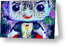 Dracula Pop Greeting Card by Al Matra