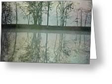 Dramatic Reflection Greeting Card by Ken Johnson