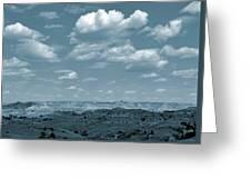 Drifting Clouds And Shifting Shadows Greeting Card