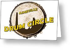Drum Circle Logo Greeting Card