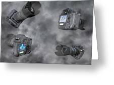 Dslr Cameras Greeting Card