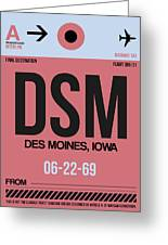 Dsm Des Moines Luggage Tag I Greeting Card