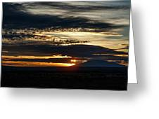 Dual Sunstars At Nipple Bench Sunrise Greeting Card