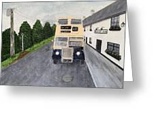 Dublin Bus Painting Greeting Card