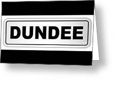 Dundee City Nameplate Greeting Card