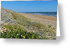 Dunes Wooden Fence Greeting Card
