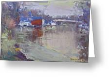 Dusk At Tonawanda Canal Greeting Card