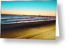 Dusk On The Strand Greeting Card
