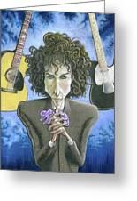 Dusky Resolution - Bob Dylan Greeting Card
