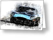 E-type Racing Greeting Card
