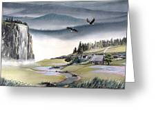 Eagle View Greeting Card by Deleas Kilgore
