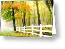 Early Autumn Morning Greeting Card
