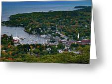 Early Fall Colors Of Camden Maine Greeting Card by Jeff Folger