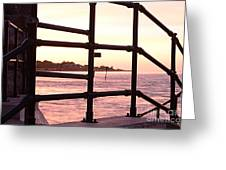Early Morning Railings Greeting Card