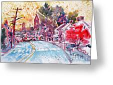 East Berlin Streetscape Greeting Card